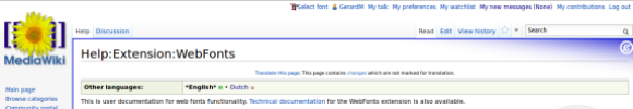 Webfonts documentation