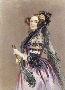 An illustration of Ada Lovelace. CC-BY-SA