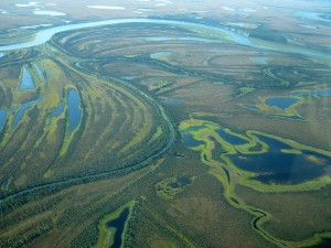 An interesting example of photo obtained as the result of this cooperation: an aerial view of Kobuk national park in Alaska.