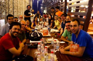 Brazilian Wikipedians at a meetup in São Paulo. Photo: Victor Grigas, CC-BY-SA
