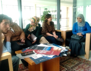 Moroccan bloggers at National Library