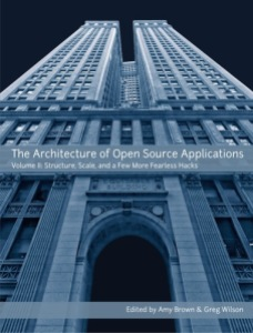 The cover of the book, based on the photo of a building from a low-angle shot
