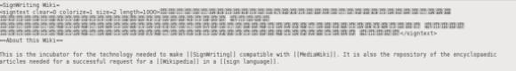 Unicode technology enables SignWriting
