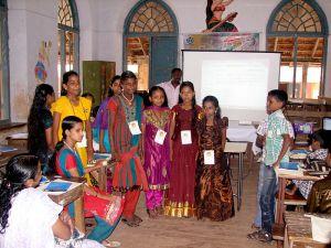Students at the Wikisangamolsavam