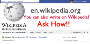 Social media group - You can also write on Wikipedia!