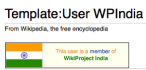 Userbox of Wikiproject India