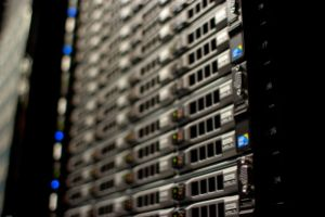 Close-up on a rack of Wikimedia servers in our datacenter in Ashburn, Virginia