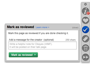 Curation Toolbar - Mark as reviewed