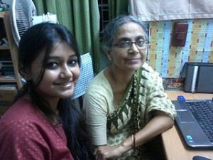 Sucheta Goshal with her great aunt