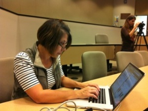 A participant at the first FemTech Edit-a-thon.