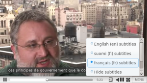 The new player supports closed captions in multiple languages.