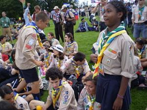 Scouts from Portugal at the opening of the 21st World Scout Jamboree