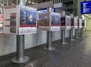 Wiki Loves Monuments photos at Warsaw Central station in Poland.