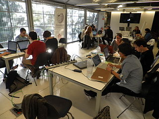 First session of the Miró Editathon