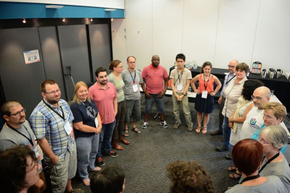 """""""Wikimania 2014 Grant Committees Training (1)"""" by AWang (WMF), under CC BY-SA 4.0"""