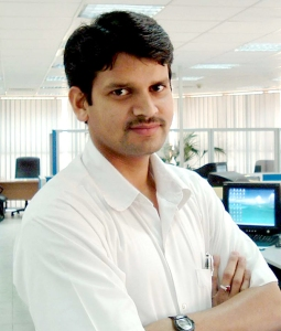 Viswanadh,B.K, the grantee for the Teluga library project.