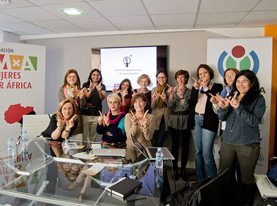 Art+Feminism Edit-a-thon in Madrid, Spain. Events like these took place around the world on International Women's Day, to increase gender diversity on Wikipedia.  Photo by Carlos Delgado, CC BY-SA 4.0