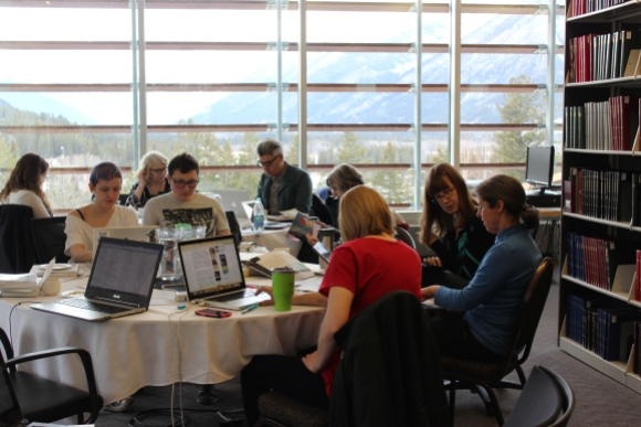 Edit-a-thon in Banff, Canada. Photo by ABsCatLib, under CC BY-SA 4.0