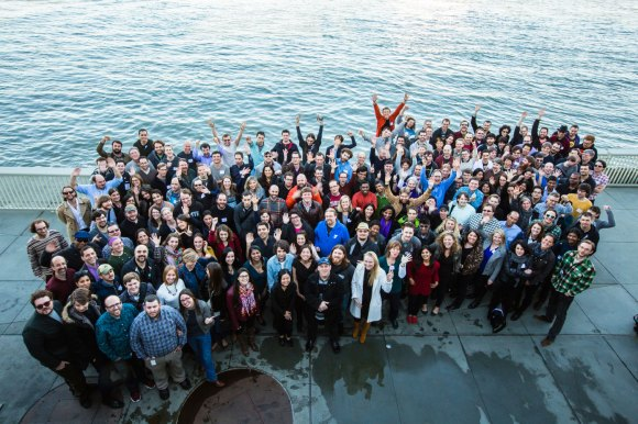 The Wikimedia Foundation operates some of the top sites on the web, with only two hundred employees. Our new report outlines what we accomplished together in 2014. Staff photo by Myleen Hollero, freely licensed under CC-BY-SA-3.0.