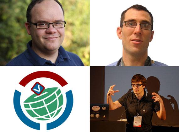 Photos by Tobias Schumann, James Heilman, and Chris McKenna (respectively), freely licensed under CC-BY-SA 3.0. Logo by Artur Jan Fijałkowski, public domain.
