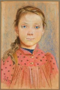 Stanisław_Wyspiański_-_Dziewczynka_w_czerwonej_sukience_w_grochy