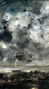 Painting by August Strindberg, public domain/CC0.