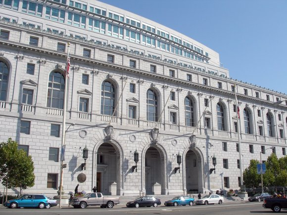 The Earl Warren Building and Courthouse, where the Supreme Court of California sits. Photo by Coolcaesar, CC-BY-SA 3.0.