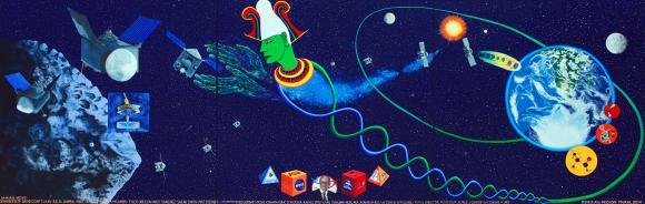 Mural by NASA, public domain/CC0.