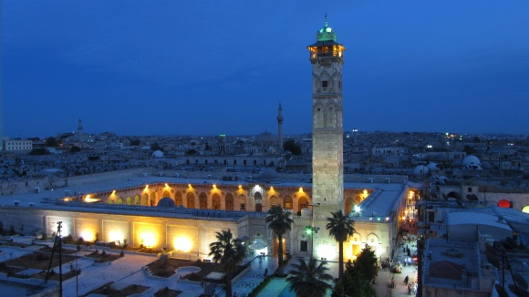 The Great Mosque of Aleppo, seen in 2012. Photo by مجد محبّك, CC BY-SA 3.0.