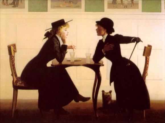Painting by Harry Wilson Watrous, public domain/CC0.