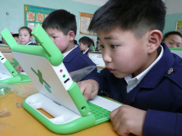 Offline Wikipedia outreach in Mongolia will integrate offline English and Mongolian Wikipedias into classroom curriculum. Photo by One Laptop per Child, CC BY-SA 2.0.
