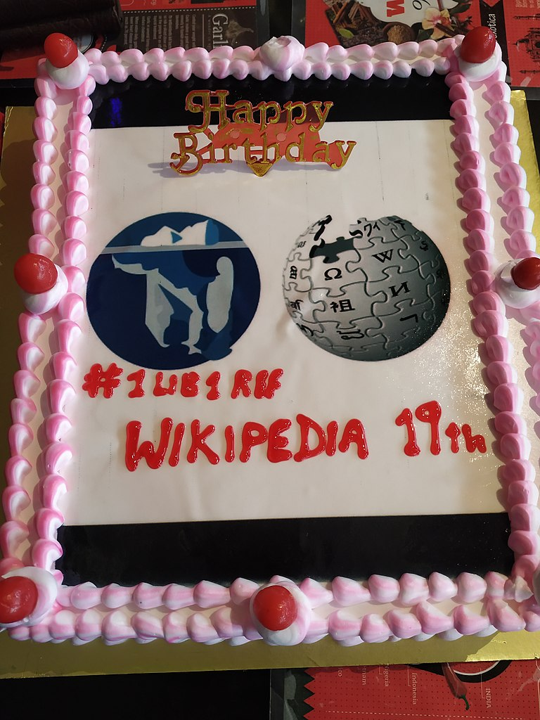 File:Wikipedia15 1 Lib 1 Ref celebration cake.jpg